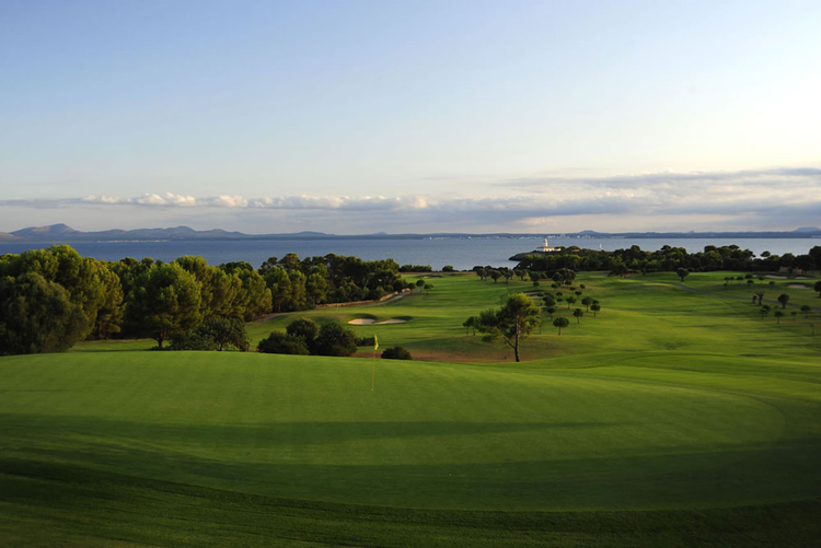 Alcanada golf course in Purto de Alcudia in the north of Mallorca