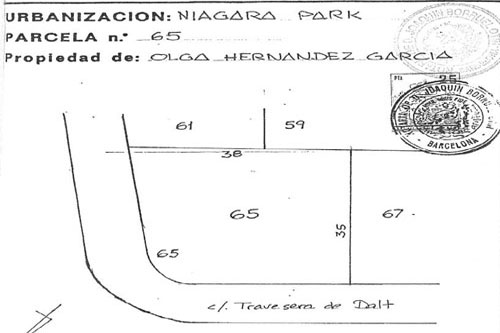 Barcelona Real Estate Land for sale Tordera Niagara Park Real Estate