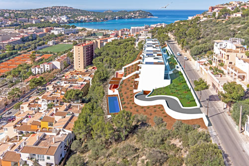 Santa Ponsa for sale Plot with project for apartments