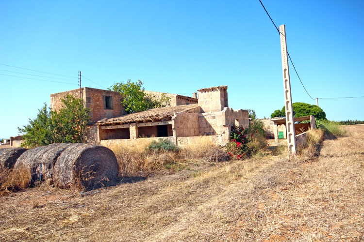Finca Ses Covetes ruins on the beach of Es Trenc for Sale in Mallorca