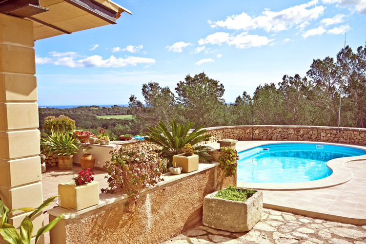 Porto Colom sea view finca for long term rental in Mallorca