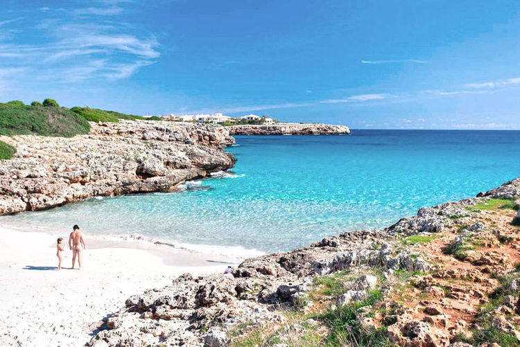 Sand beach on the east coast of Majorca Cala Varques