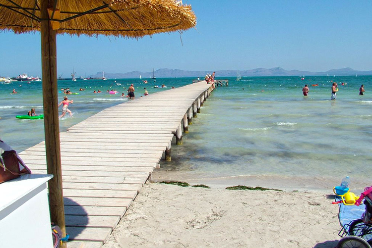 Alcudia beach beach Description and Properties