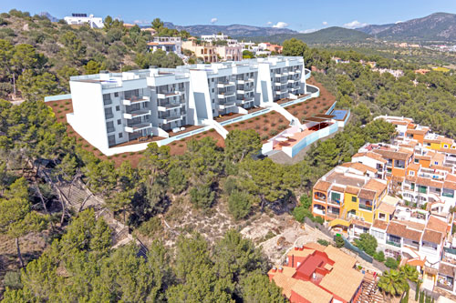 Real estate sales in Santa Ponsa in the southwest of Mallorca