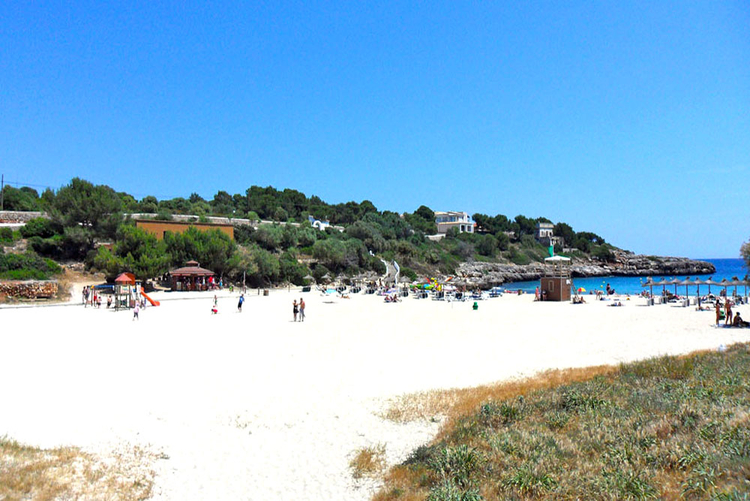 Cala Marsal beach of Porto Colom in the south east of Mallorca